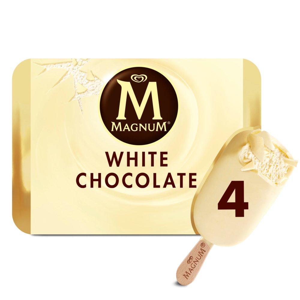 Magnum White Ice Cream 4 x 110ml