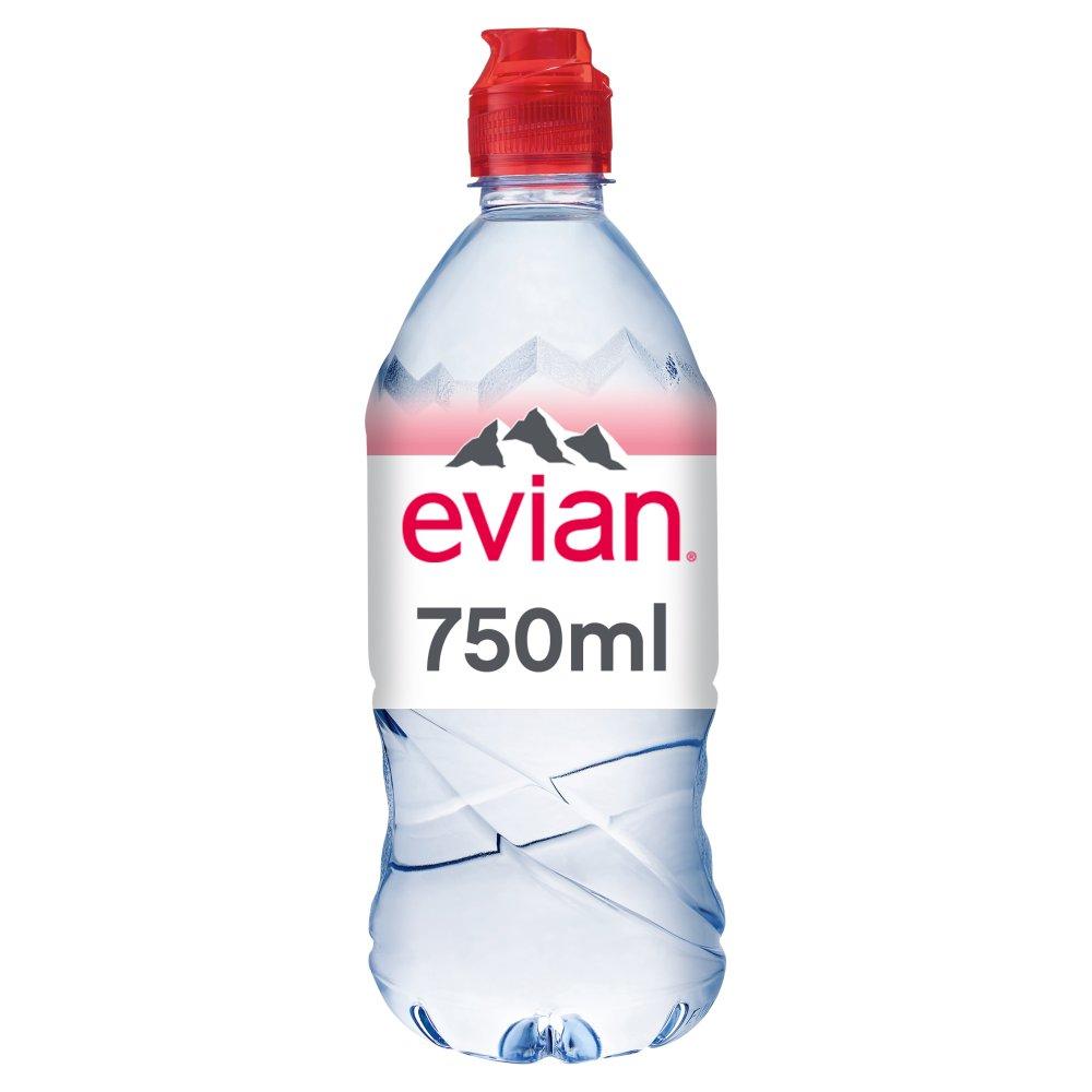 evian Natural Mineral Water Sports Cap 750ml - Batleys ...