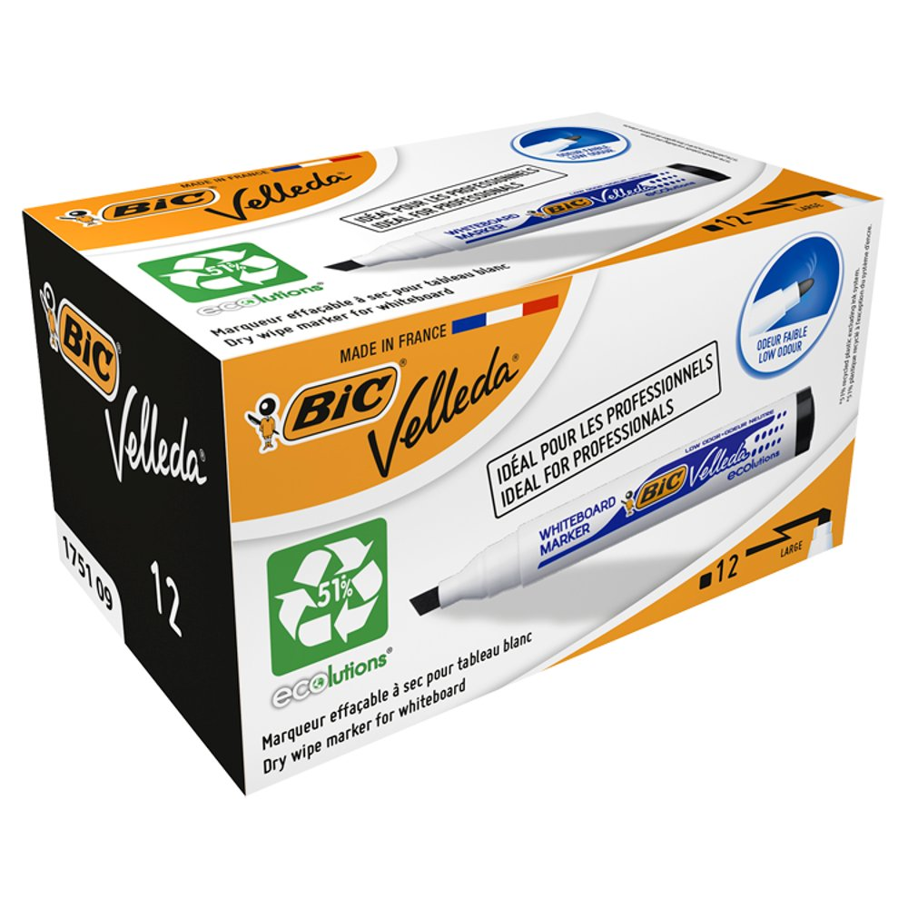 BIC Velleda 1751 Whiteboard Marker Box 12
