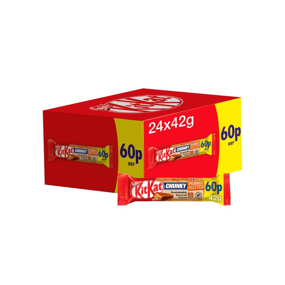 Kit Kat Chunky Peanut Butter Chocolate Bar 42g PMP 60p