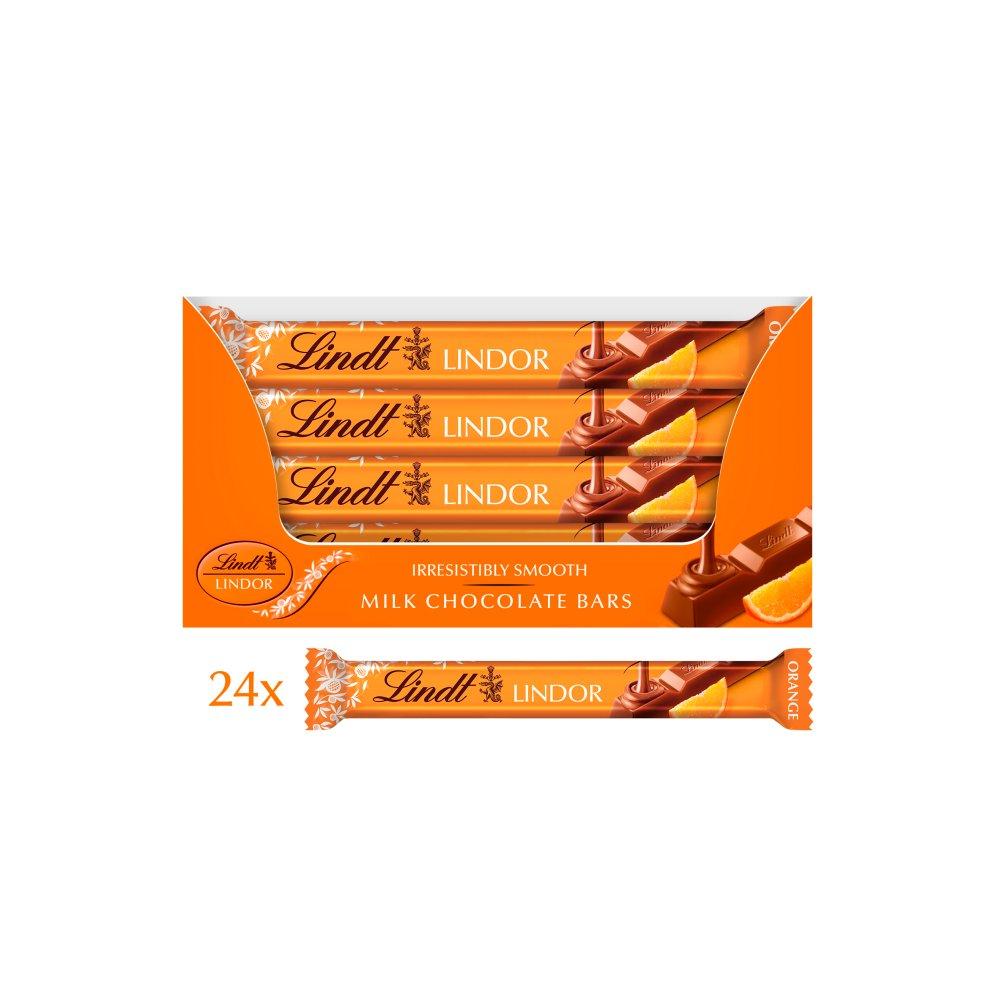 Lindt Lindor Orange Milk Chocolate Bar 38g