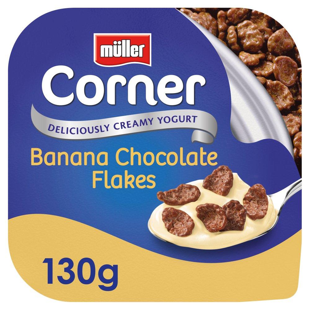 Müller Corner Banana Yogurt with Chocolate Flakes 130g