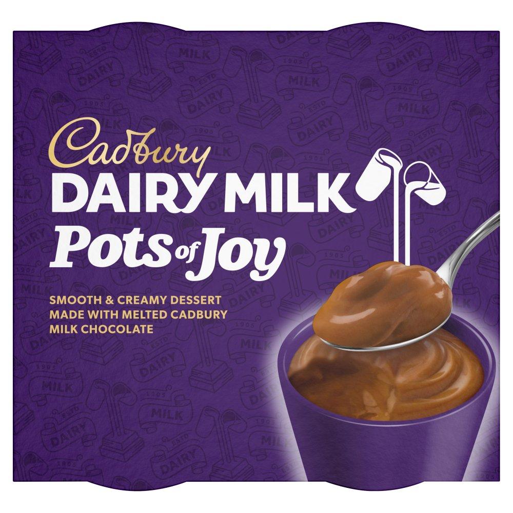 Cadburys Dairy Milk Pots of Joy Chocolate Dessert 4x65g