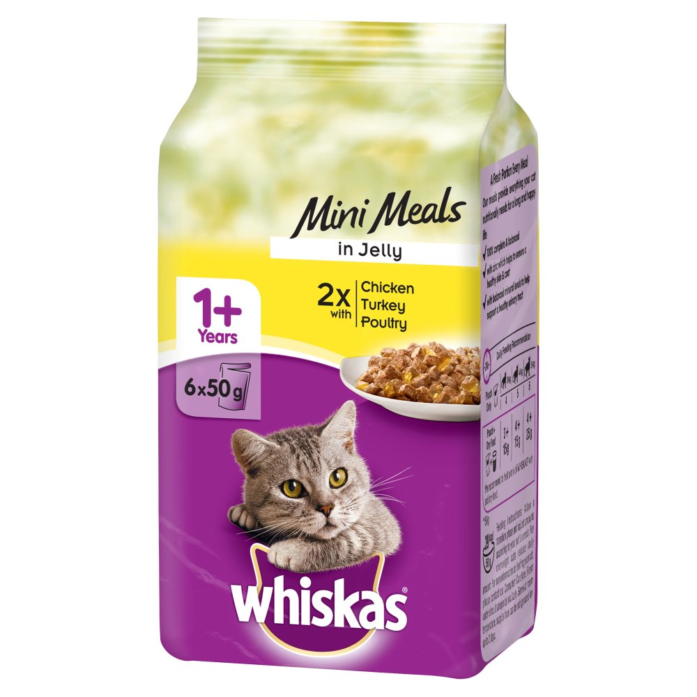 Whiskas Pouch Poultry Jelly 6pack