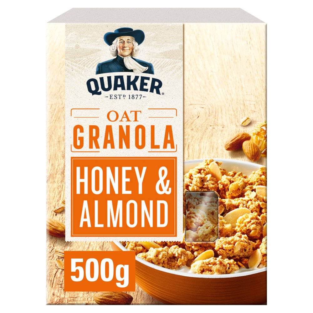 Quaker Oat Honey & Almond Granola 500g