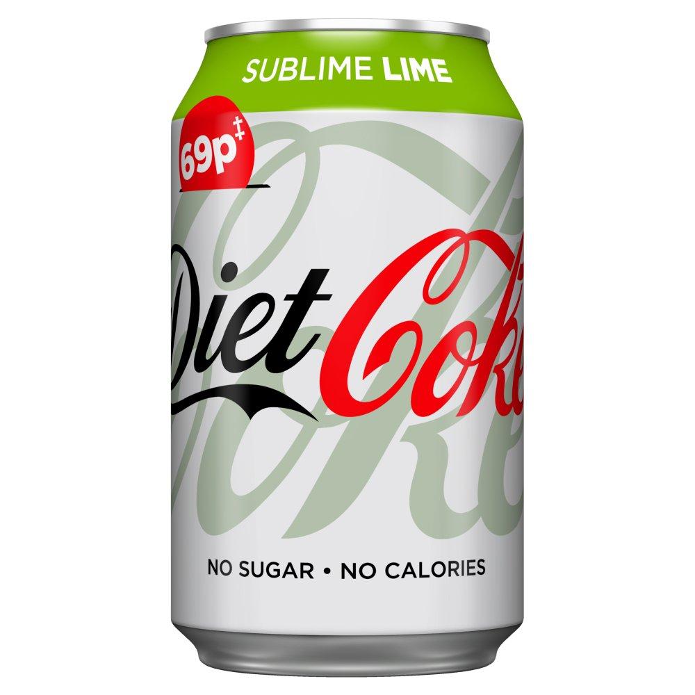 Diet Coke Sublime Lime 330ml PM 69p
