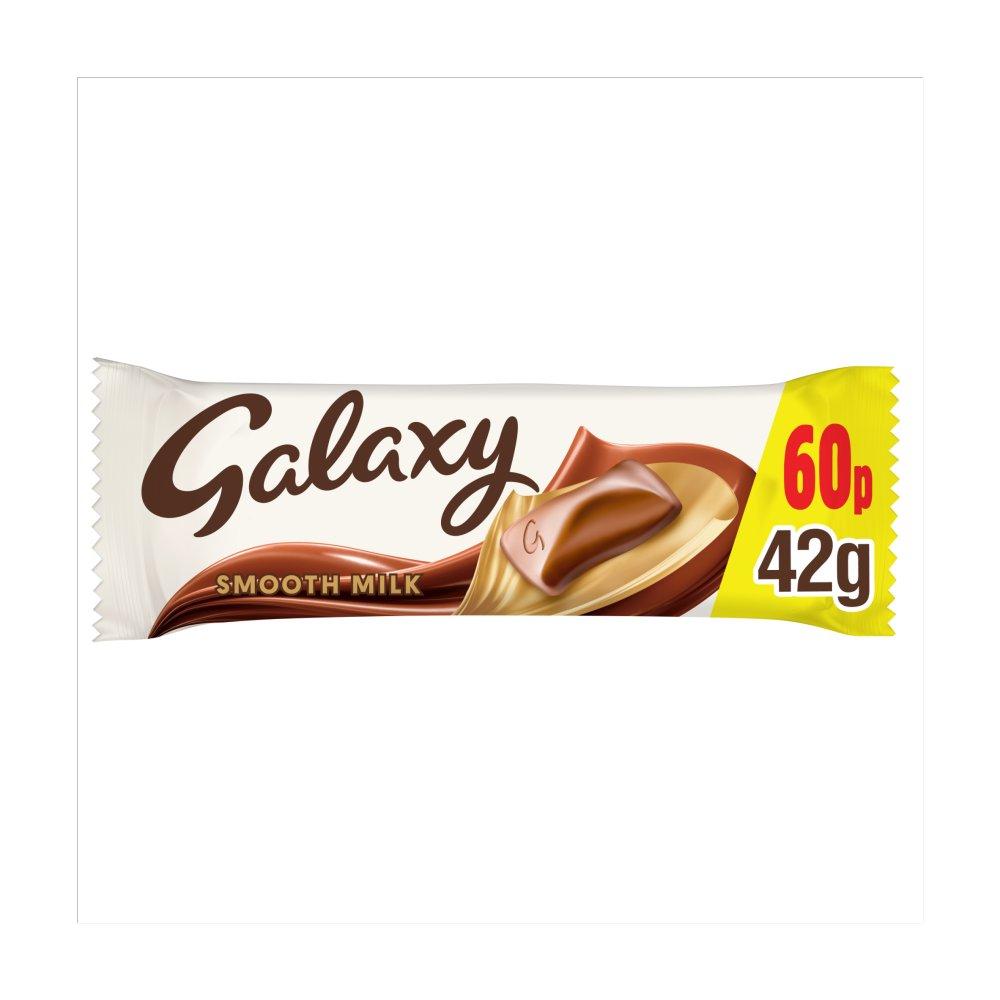 Galaxy Milk Chocolate £0.60 PMP Bar 42g