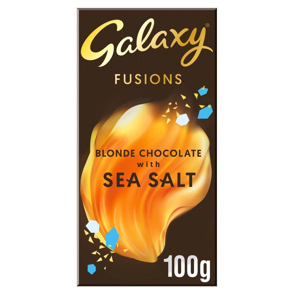 Galaxy Fusions Blonde Sea Salt Chocolate Bar 100g