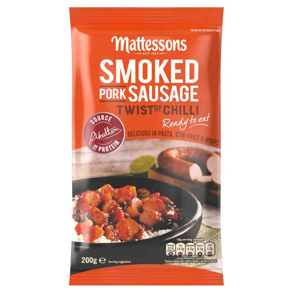 Smoked Pork Sausage Twist Chilli