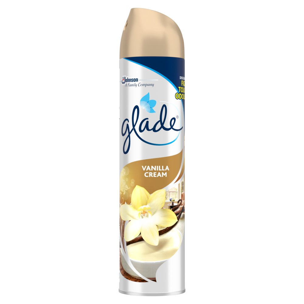 Glade Aerosol Vanilla Cream Air Freshener 300ml