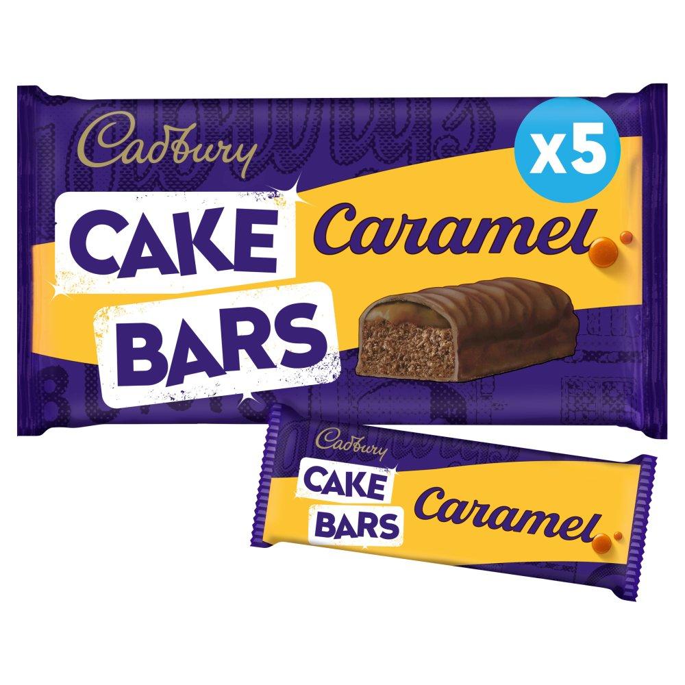 Cadbury Caramel Cake Bars x 5