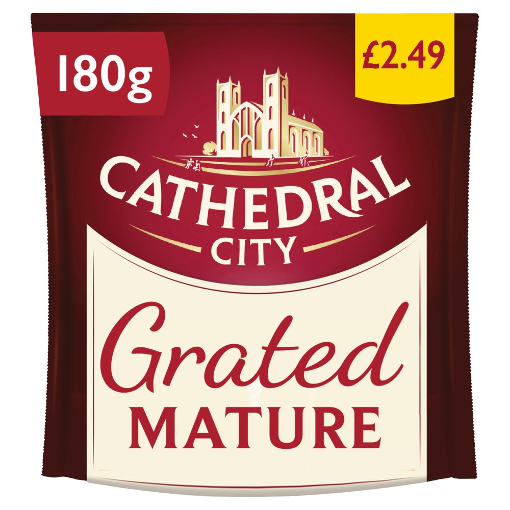 Cathedral City Grated Mature Cheddar Cheese 180g PM £2.49