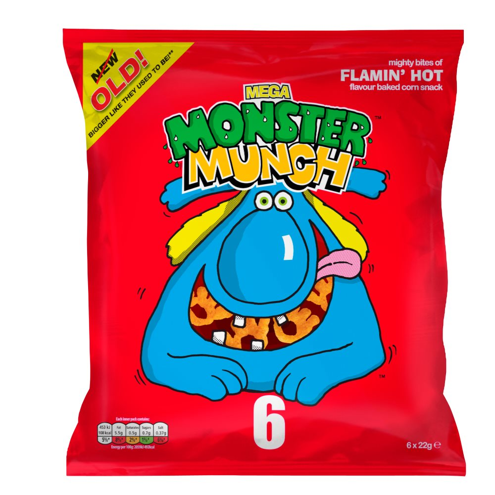 Mega Monster Munch Flamin'hot Snacks