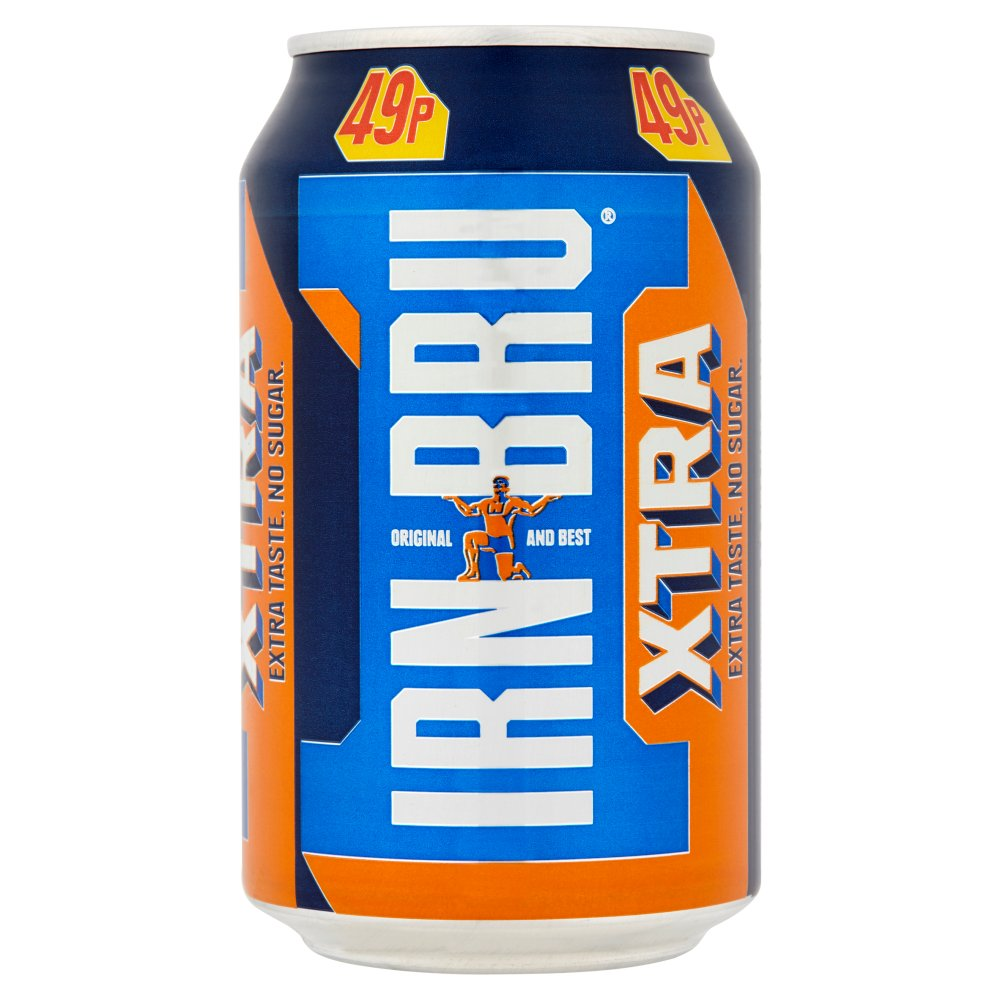Irn Bru Xtra 330ml Cans PMP 49p
