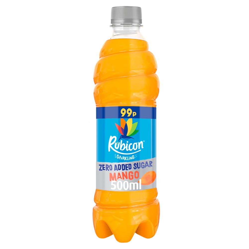 Rubicon Sparkling Zero Added Sugar Mango 500ml, PMP 99p