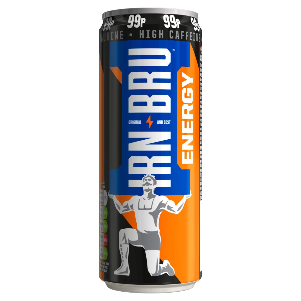IRN-BRU Energy Drink 330ml Can, PMP 99p