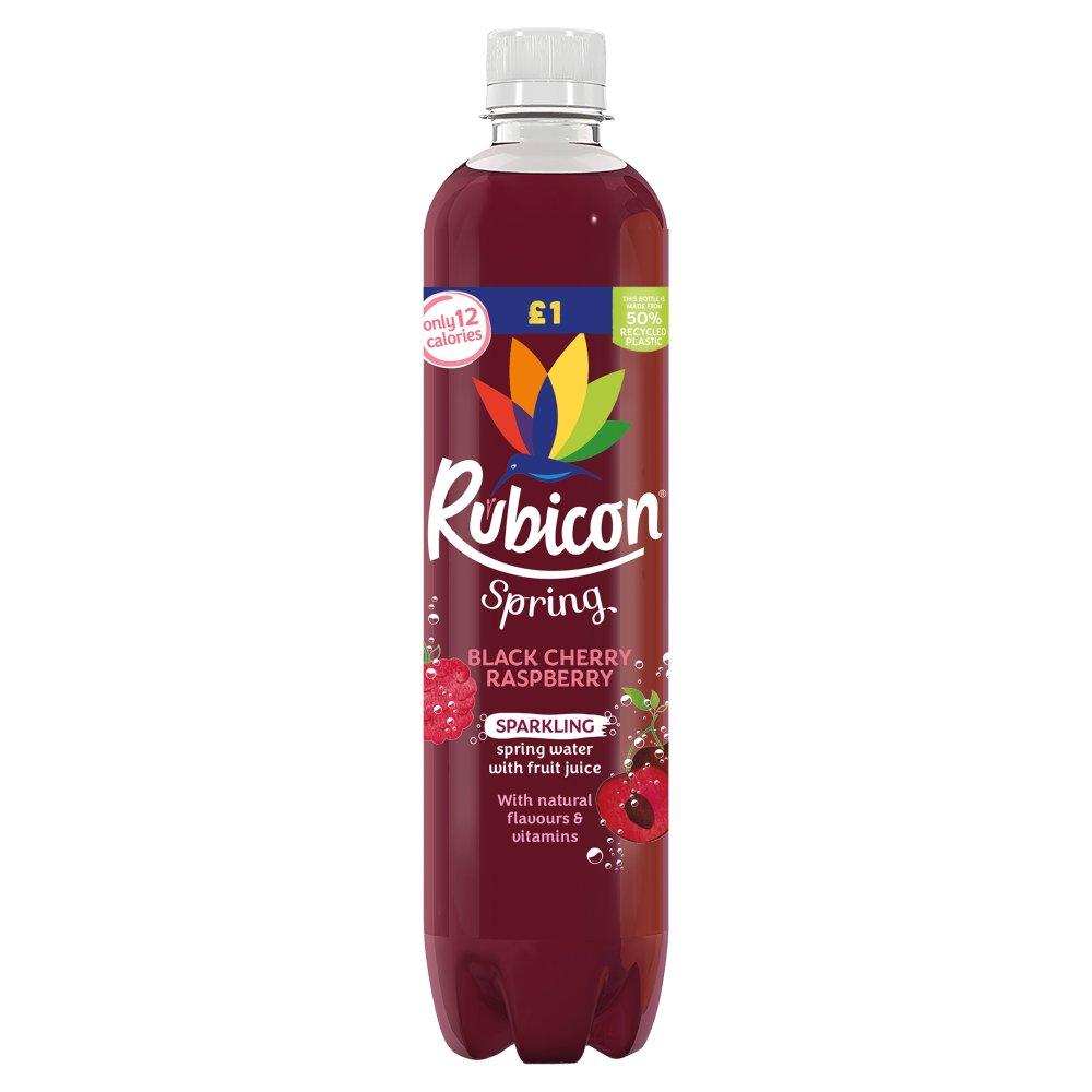 Rubicon Spring Black Cherry Raspberry Flavoured Sparkling Spring Water, 500ml