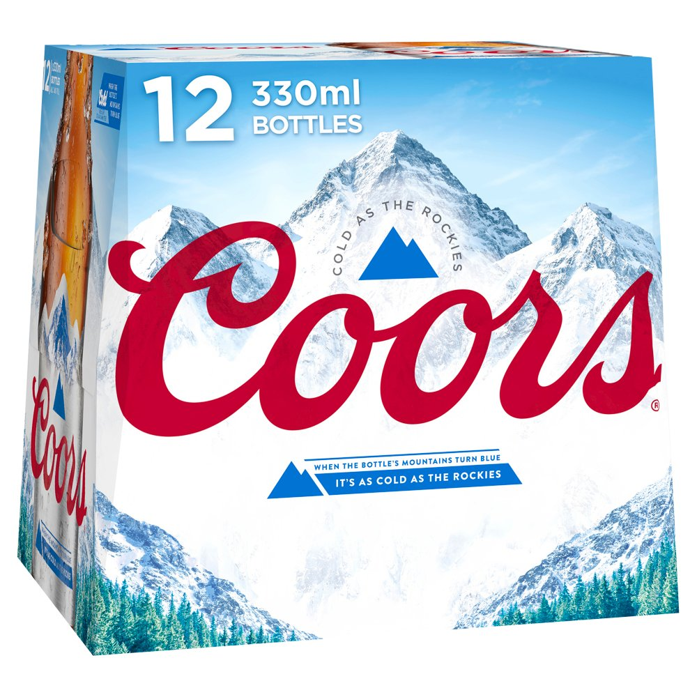 Coors Light Lager 12 x 330ml