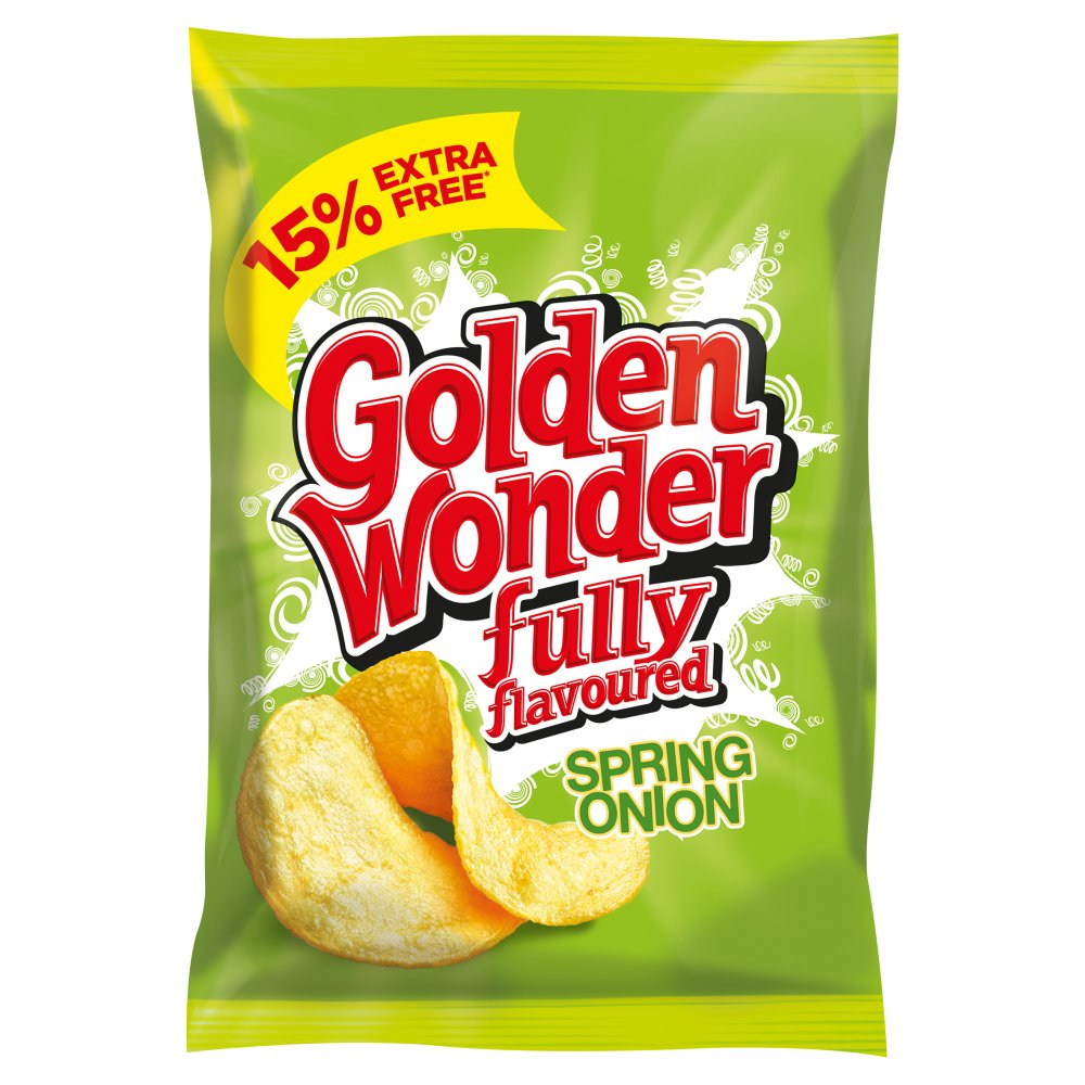 Golden Wonder Crisp Spring Onion 15percent Extra