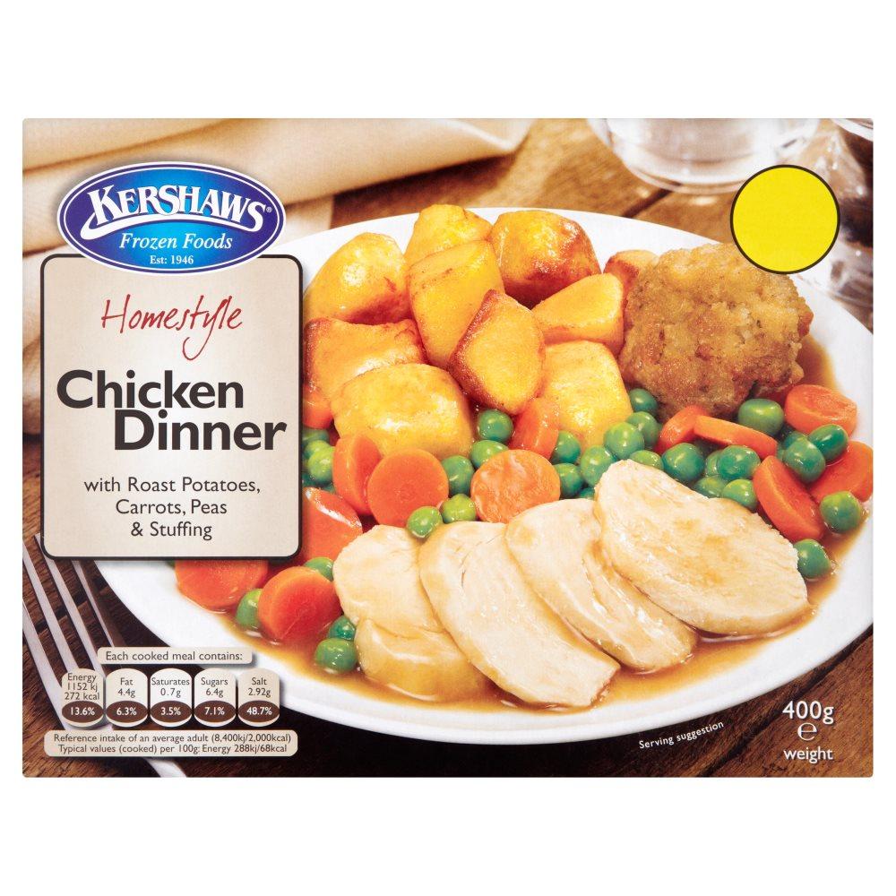Kershaws Chciken Dinner PMP £1.69