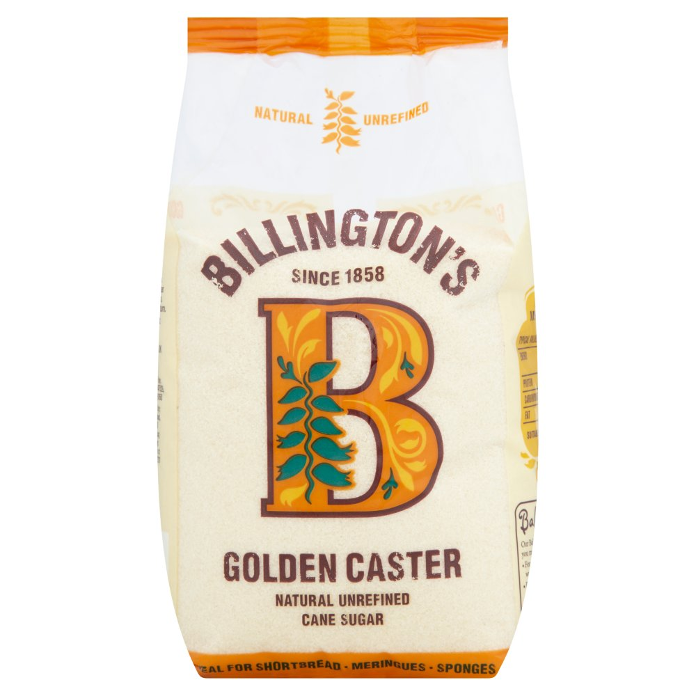 Billington's Golden Caster Natural Unrefined Cane Sugar 1kg