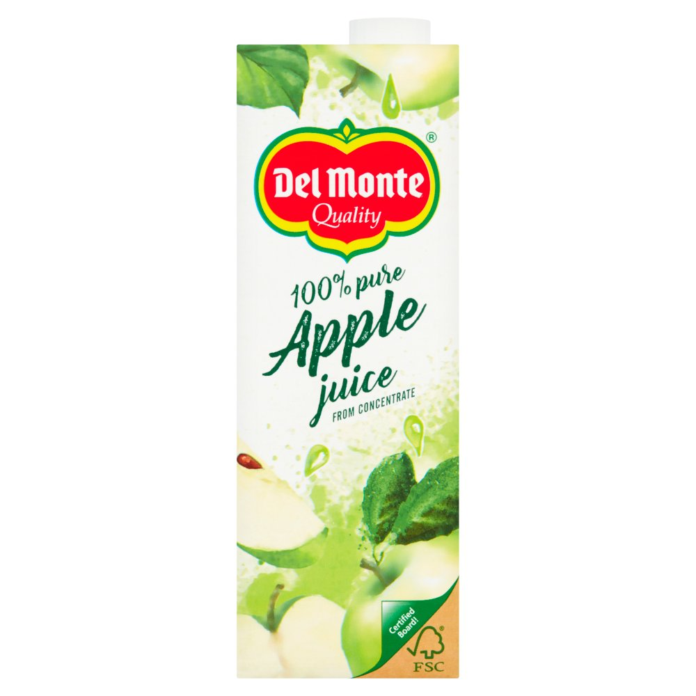 Del Monte 100% Pure Apple Juice from Concentrate 1 Litre