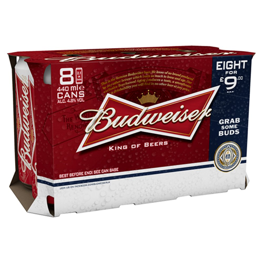 Budweiser PM 8 For £9