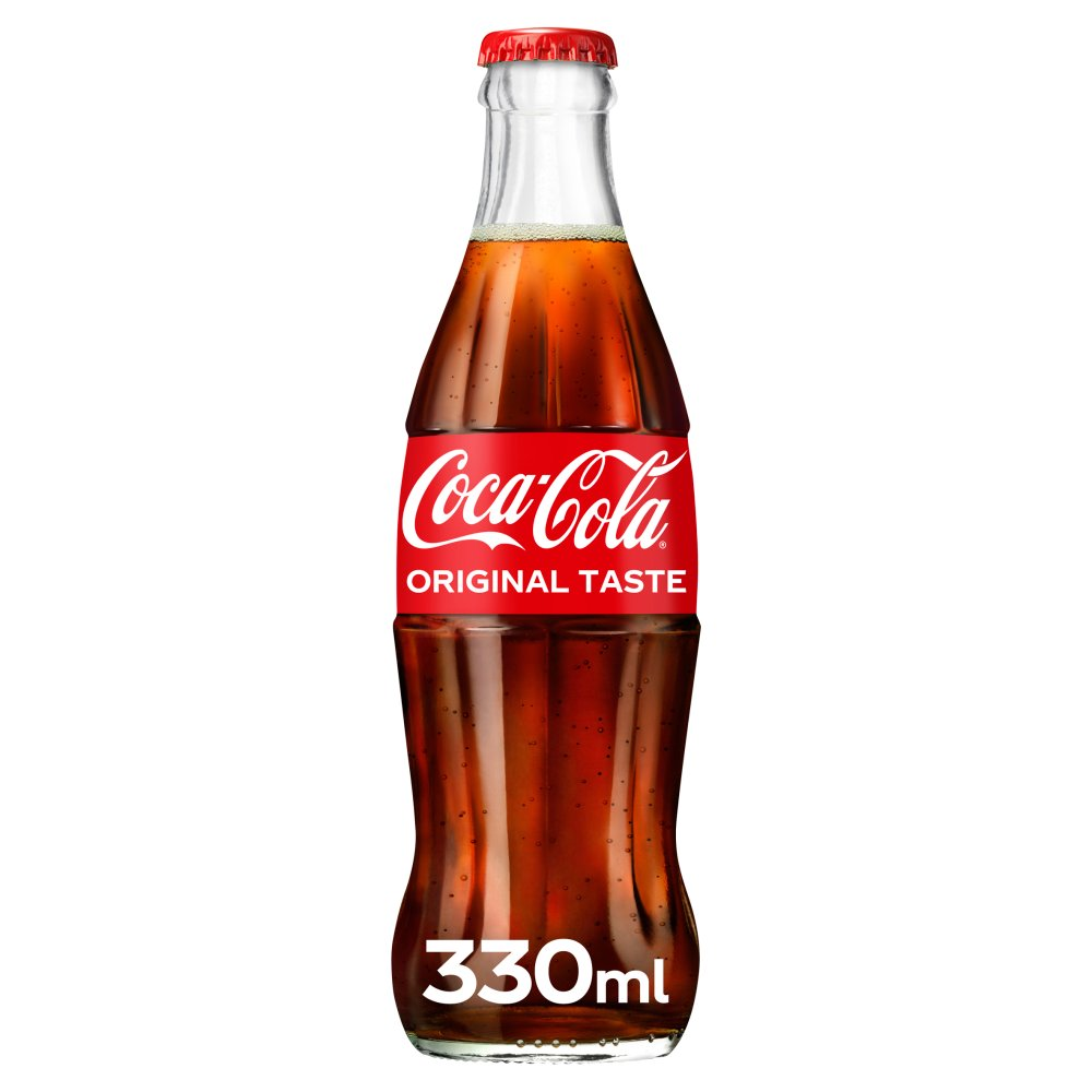 Coca Cola Glass Bottle 330ml (Pack of 24)