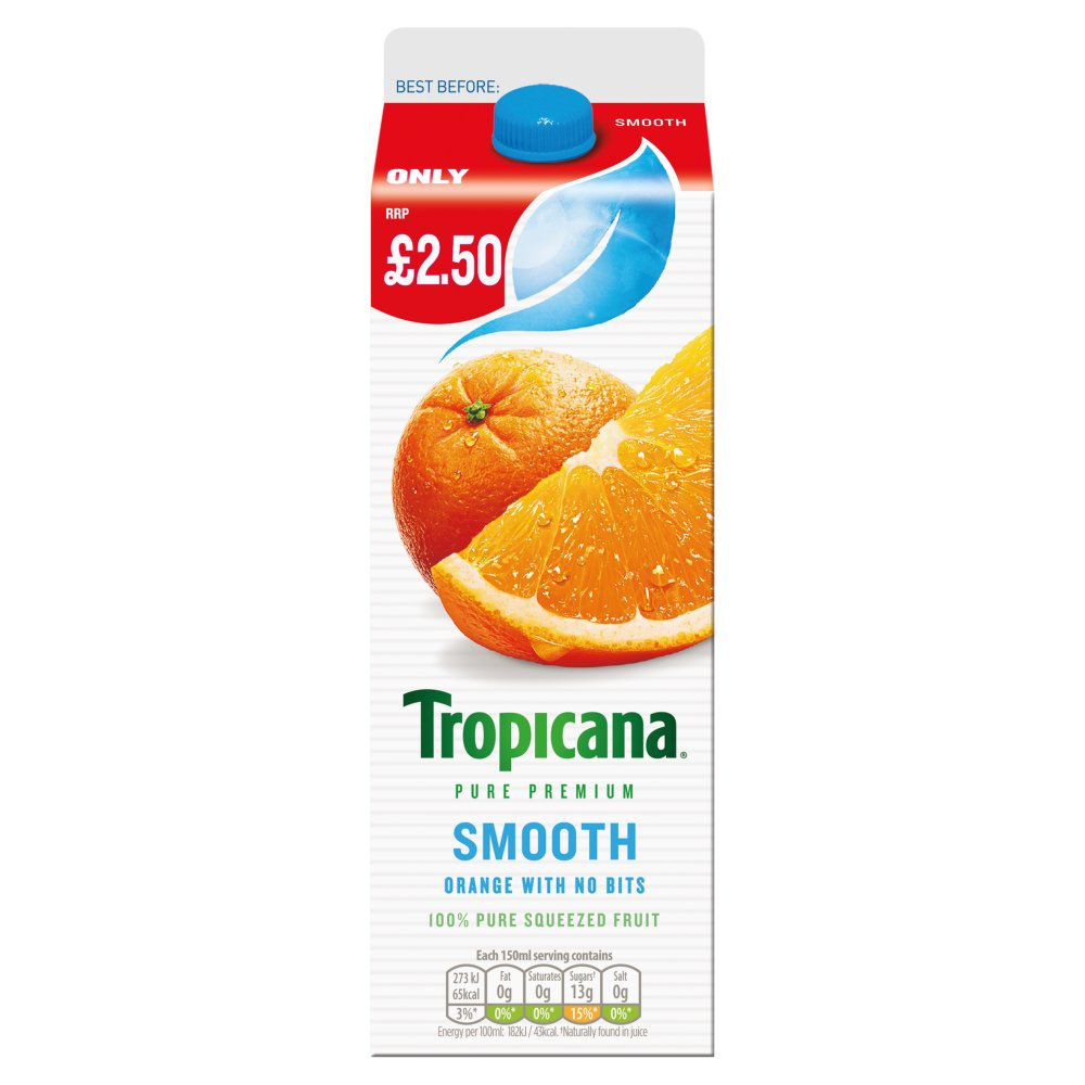 Tropicana Ornage Juice Smooth PMP £2