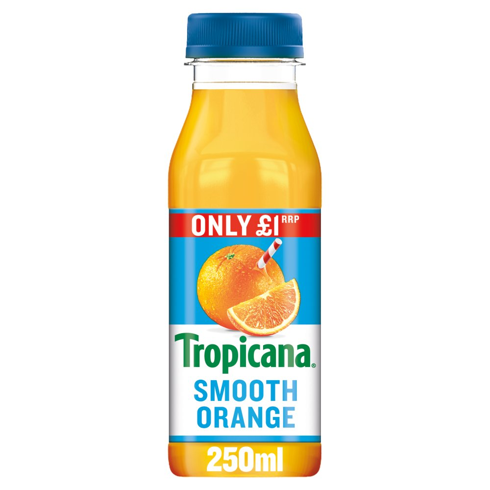Tropicana Smooth Orange Juice £1 PMP 250ml