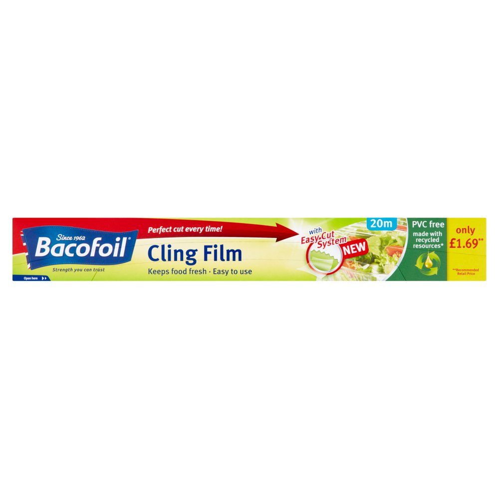 Bacofoil® PVC Free Cling Film with Easy-Cut System 32.5cm x 20m PMP £1.69