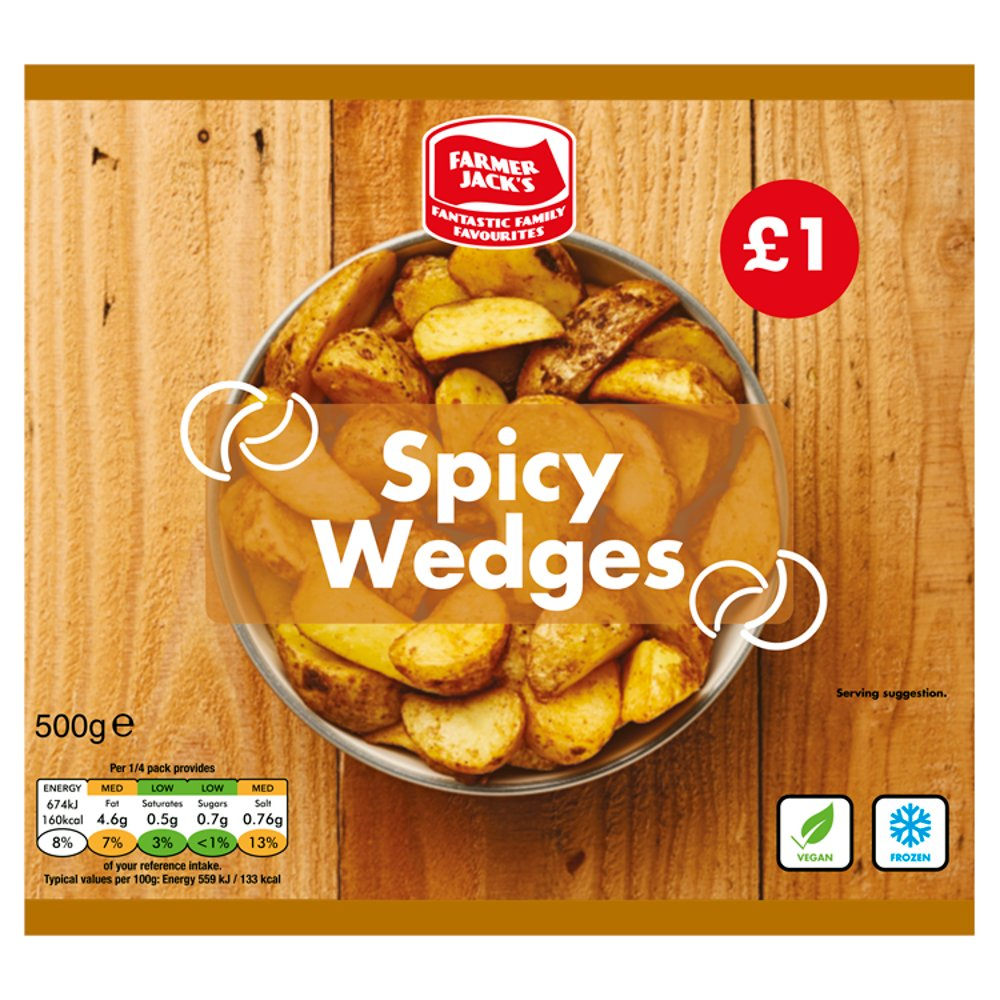 Farmer Jack's Spicy Wedges 500g