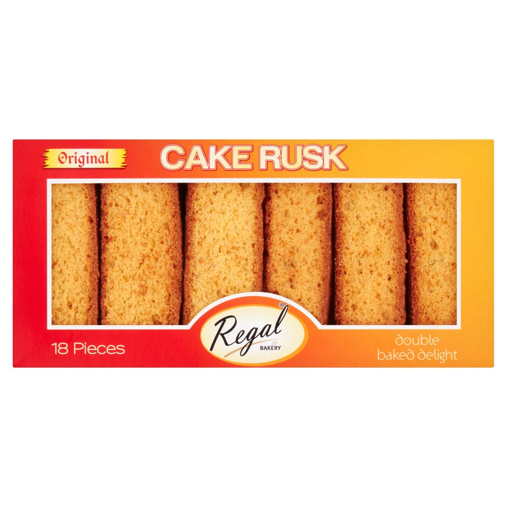 Regal Bakery Original Cake Rusk 18 Pieces
