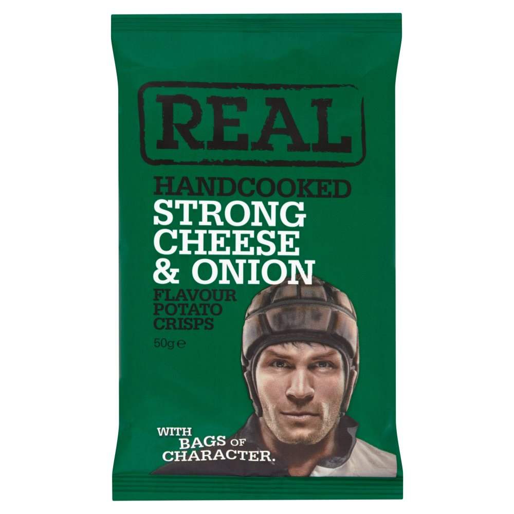 Real Crisps Cheese & Onion