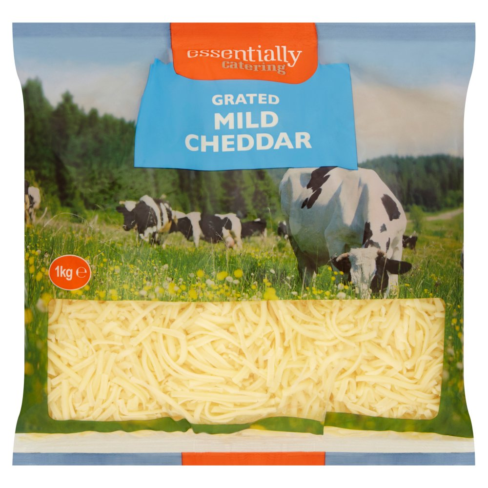 Essentially Catering Grated White Mild Cheddar 1kg