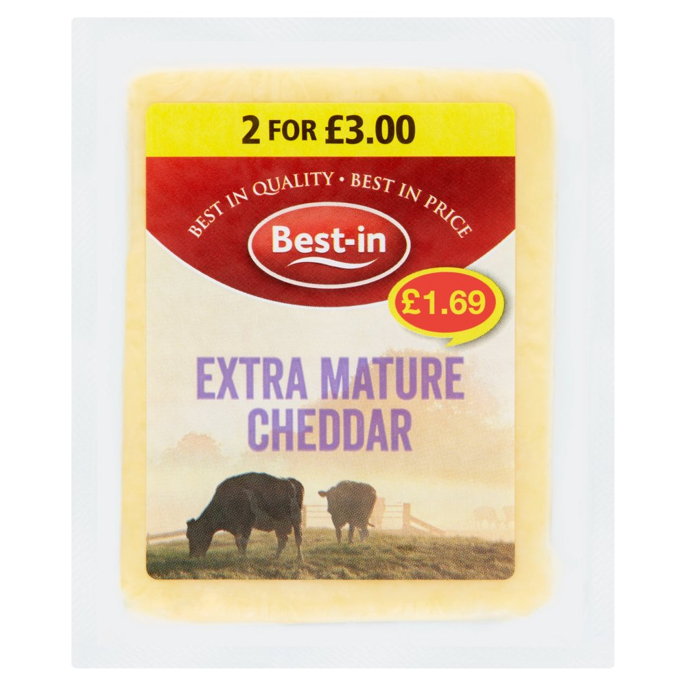 Best In Extra Mature Cheddar £1.69 2 For £3