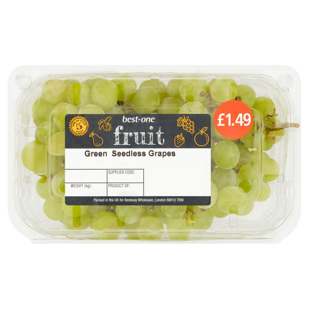 Best-One Fruit Green Seedless Grapes