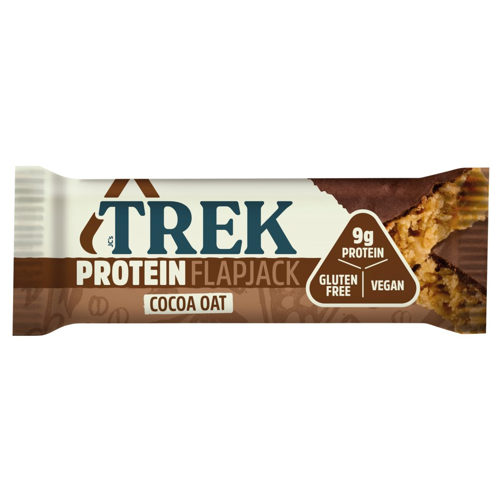 TREK Cocoa Oat Protein Flapjack Chocolate Flavour Topped 50g