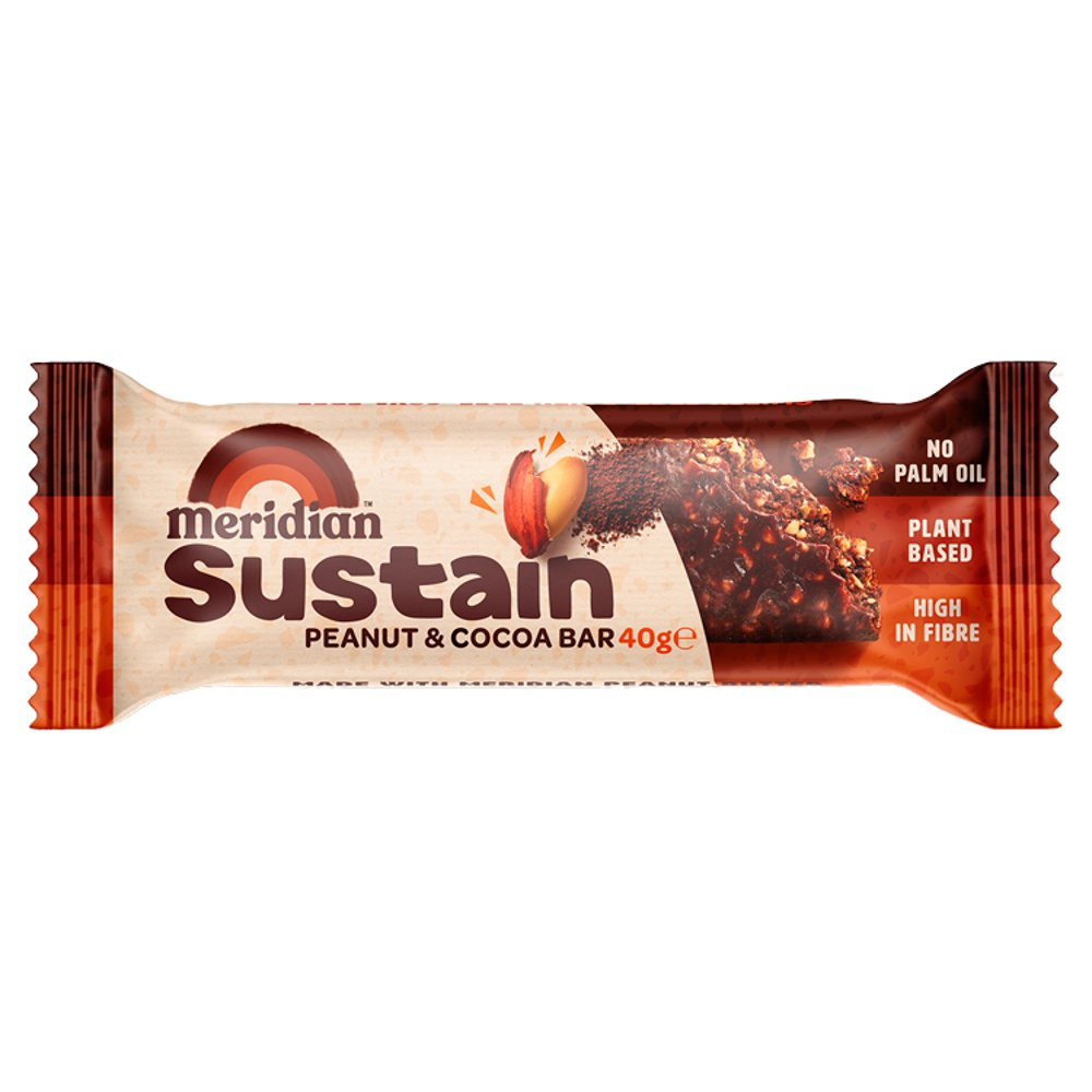 Meridian Sustain Peanut and Cocoa Bar 40g