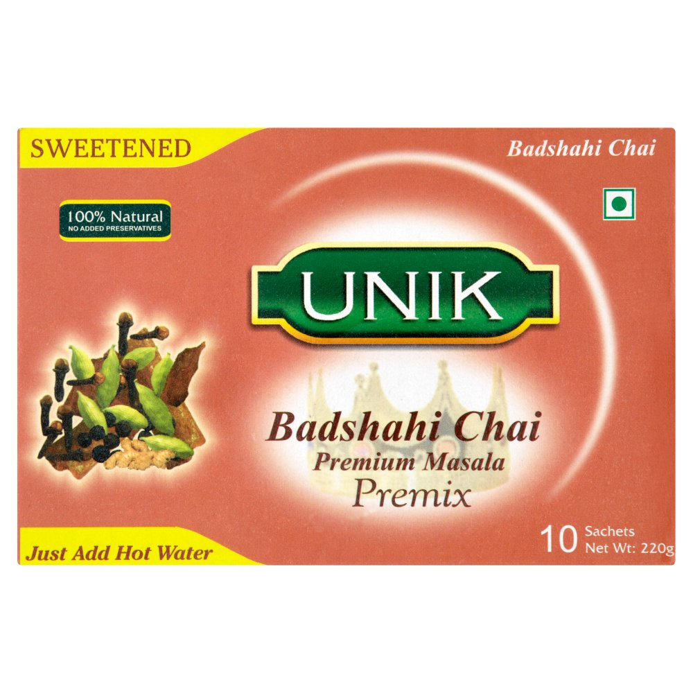 Unik Sweetened Badshahi Chai Premium Masala Premix 10 x 22g