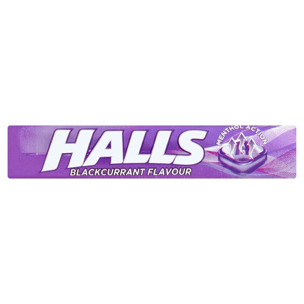 Halls Blackcurrant Menthol Action Sweets 33.5g