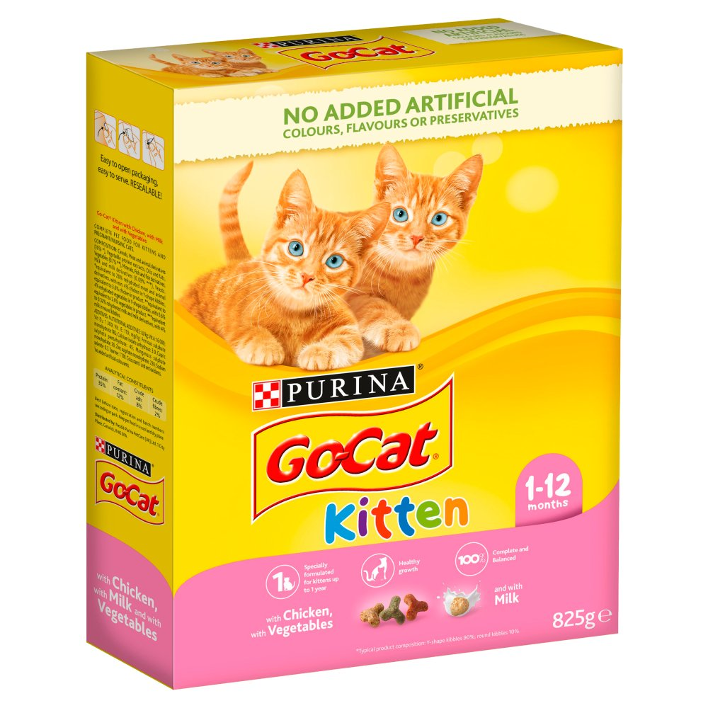 Go Cat Kitten Chicken 825g