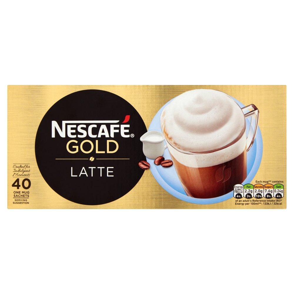 NESCAFÉ GOLD Latté Instant Coffee, 40 Sachets x 19.5g
