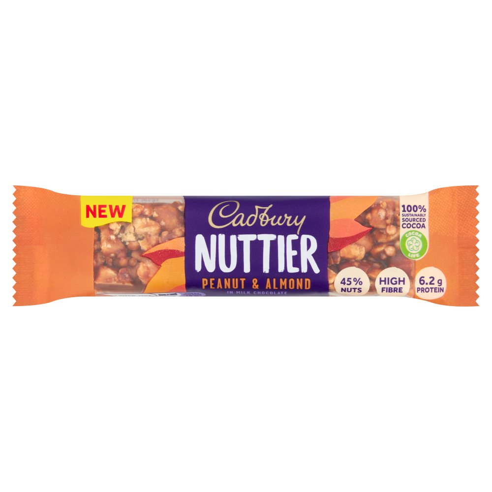 Cadbury Nuttier Peanut & Almond Chocolate Bar 40g