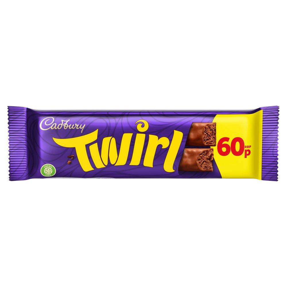 Cadbury Twirl Chocolate Bar 60p 43g