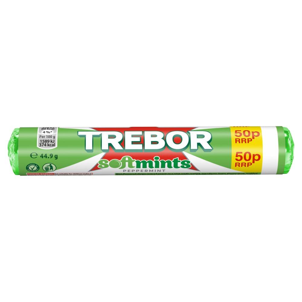 Trebor Softmints Peppermint 50p Mints Roll 44.9g