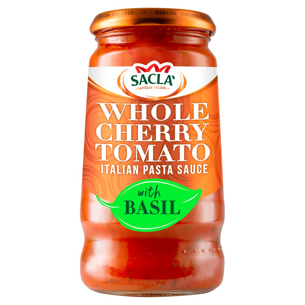 Sacla' Whole Cherry Tomato Italian Pasta Sauce with Basil 350g