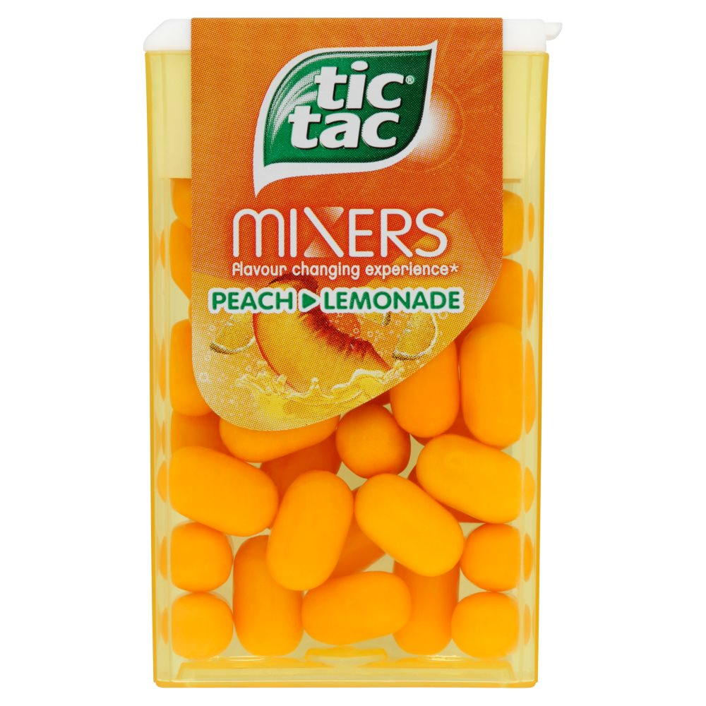 Tic Tac Mixers Peach & Lemonade