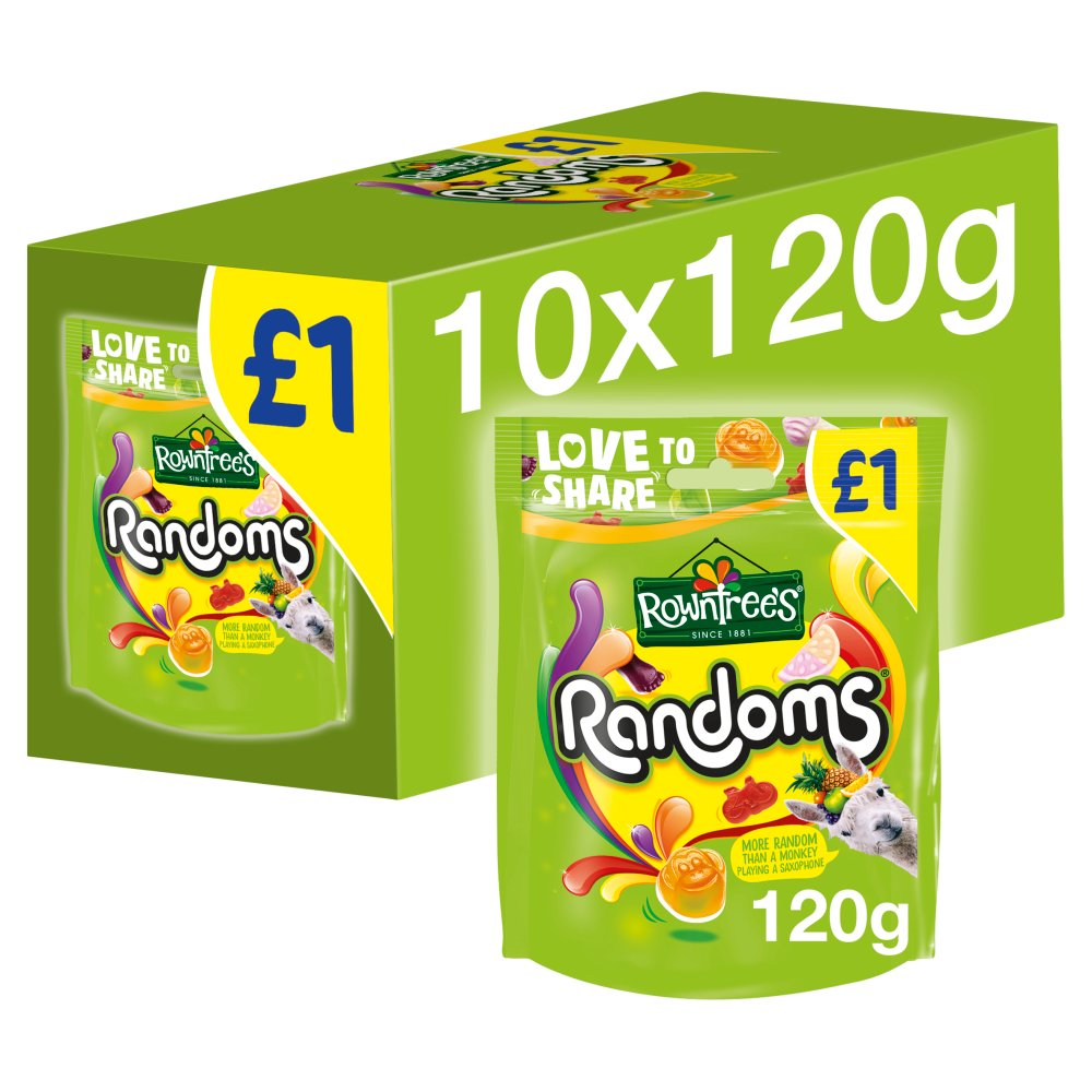 Rowntree's Randoms Sweets Sharing Pouch 120g £1