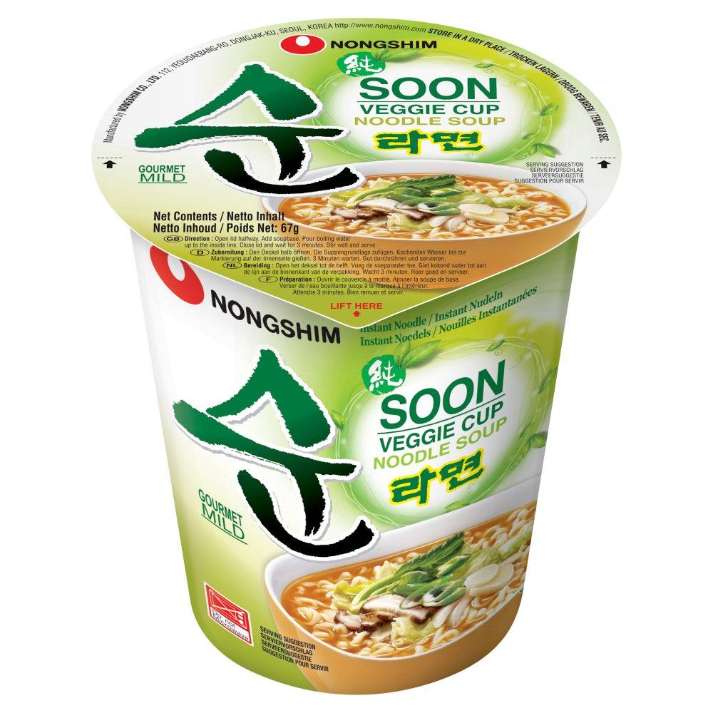 Nongshim Soon Veggie Cup Noodle Soup 6 x 67g